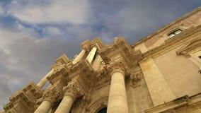 CATEDRAL de SIRACUSA Siracusa, Sarausa-- cidade histórica em Sicília, Itália video estoque