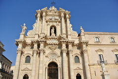 Catedral de Siracusa (templo de Athena) Foto de Stock Royalty Free