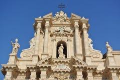 Catedral de Siracusa (templo de Athena) Imagens de Stock