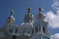 Catedral de Smolny em St Petersburg р Fotos de Stock Royalty Free