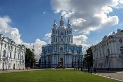 Catedral de Smolny em St Petersburg Imagem de Stock Royalty Free