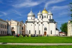 Catedral de Sophia del santo en Novgorod Imagen de archivo