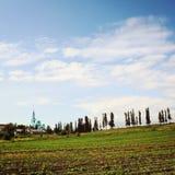 Catedral de Spaso-Preobrazhensky Campos del monasterio imagen de archivo libre de regalías