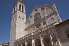 Catedral de Spoleto Imagen de archivo libre de regalías
