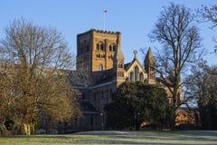 Catedral de St Albans Imagenes de archivo