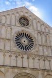 A catedral de St Anastasia, Zadar fotos de stock royalty free