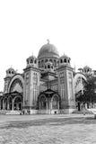 A catedral de St Andrew em Patra, preto e branco Fotografia de Stock