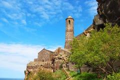 Catedral de St Anthony, Castelsardo, Cerdeña, Italia Foto de archivo libre de regalías