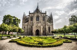 Catedral de St Barbara en Kutna Hora Imagenes de archivo