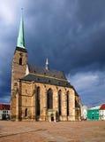 Catedral de St. Bartholomew (PlzeÅ) imagenes de archivo