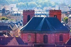 Catedral de St Christopher en Belfort, Francia fotos de archivo