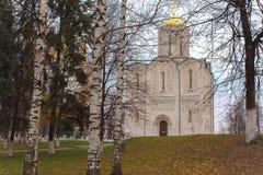 Catedral de St Demetrius em Vladimir Fotografia de Stock