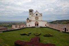 Catedral de St Francis en Assisi Italia Fotografía de archivo libre de regalías