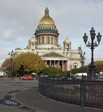 Catedral de St. Isaak em St Petersburg Foto de Stock Royalty Free