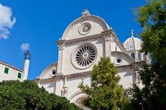 Catedral de St James em Sibenik, Croácia Foto de Stock Royalty Free
