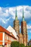 Catedral de St John el Bautista en Wroclaw, Polonia Fotos de archivo
