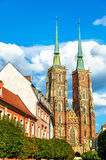 Catedral de St John el Bautista en Wroclaw, Polonia Imagen de archivo