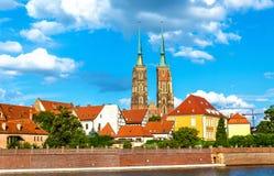 Catedral de St John el Bautista en Wroclaw, Polonia Foto de archivo