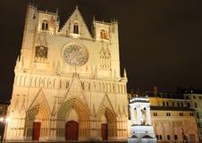 Catedral de St John en Lyon Fotografía de archivo