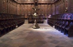 Catedral de St John o batista do coro de Badajoz Imagens de Stock