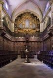Catedral de St John o batista do coro de Badajoz Fotografia de Stock Royalty Free