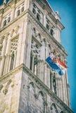 A catedral de St Lawrence em Trogir, filtro análogo imagem de stock