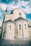 Catedral de St Lawrence em Trogir, filtro análogo imagem de stock royalty free