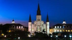 Catedral de St Louis em Nova Orleães imagens de stock royalty free