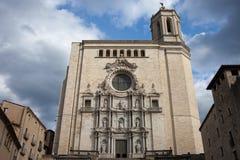 Catedral de St Mary de Girona foto de archivo libre de regalías