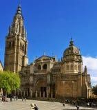 Catedral de St Mary de Toledo, España Foto de archivo libre de regalías