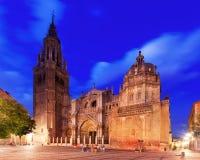 Catedral de St Mary na noite toledo Imagem de Stock Royalty Free
