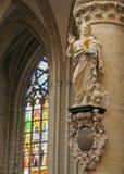 Catedral de St Michael e de St. Gudula Fotografia de Stock Royalty Free