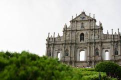 Catedral de St Paul s macao Fotografia de Stock