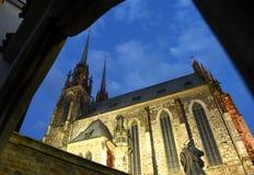 Catedral de St Peter e Paul em Brno, república checa Imagem de Stock Royalty Free