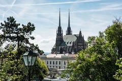 Catedral de St Peter e Paul em Brno, república checa Imagem de Stock