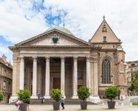 Catedral de St Pierre en Ginebra Foto de archivo