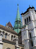 Catedral de St Pierre en Ginebra Fotografía de archivo libre de regalías