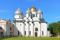 Catedral de St Sophia em Veliky Novgorod, Rússia Fotos de Stock Royalty Free
