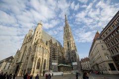 A catedral de St Stephen em Viena fotos de stock royalty free