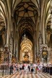 A catedral de St Stephen (Stephansdom) em Viena Imagem de Stock