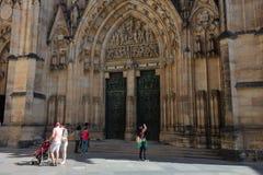 Catedral de St Vito, la catedral más hermosa de Praga Imagen de archivo