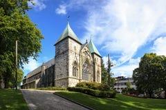 Catedral de Stavanger Fotografia de Stock Royalty Free