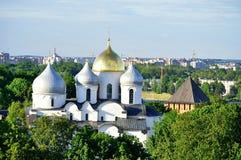 Catedral de StSophia de la opinión del ojo de pájaro, Veliky Novgorod Foto de archivo libre de regalías