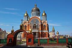 Catedral de Sviato-Pokrovskyi en Kyiv, Ucrania fotografía de archivo libre de regalías
