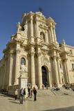 Catedral de Syracuse Fotografía de archivo libre de regalías