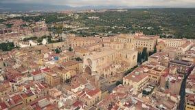 Catedral de Tarragona almacen de metraje de vídeo