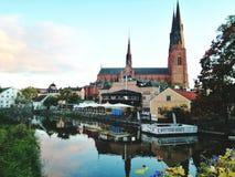 Catedral de Tbe en Uppsala Suecia fotografía de archivo libre de regalías