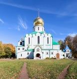 A catedral de Theodore Sovereign em Pushkin, Rússia imagens de stock royalty free
