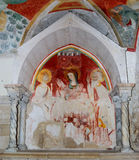 Catedral de Trani: fresco na cripta de St. Mary   Fotografia de Stock