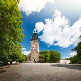 Catedral de Turku el día soleado Fotografía de archivo